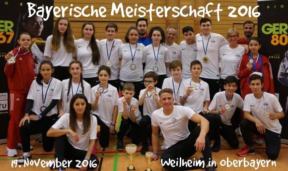 Bayerische Meisterschaft 2016 in Weilheim - Titel
