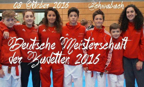Deutsche Meisterschaft der Kadetten 2016 in Schwabach - Titel