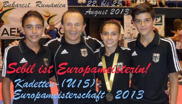 Kadetten-(U15)-Europameisterschaft 2013 in Bukarest - Titel