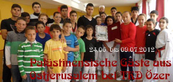 Palästinensische Gäste aus Ostjerusalem bei Taekwondo Özer