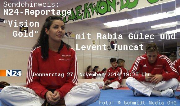 "Sendehinweis - N24-Reportage ""Vision Gold"" mit Rabia Gülec und Levent Tuncat - Titel"