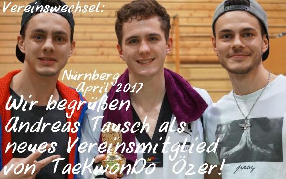 Vereinswechsel - Wir begrüßen Andreas Tausch als neues Vereinsmitglied von Taekwondo Özer - Titel