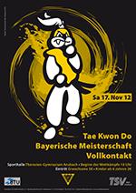 Plakat Bayerische Meisterschaft 2012