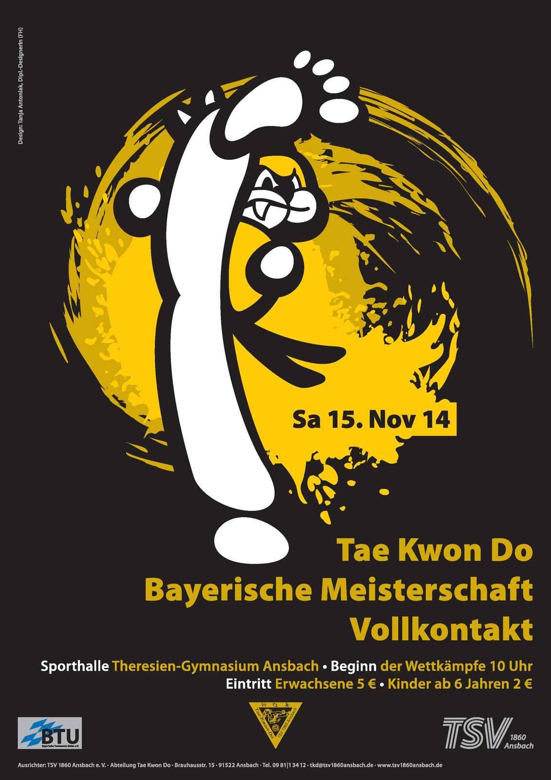 Plakat Bayerische Meisterschaft 2014