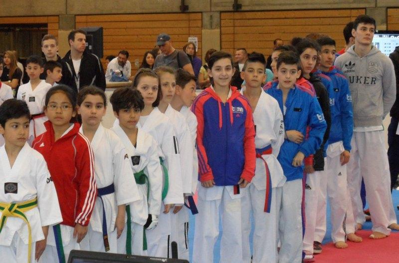 1. Bayernpokal 2014 in Roth - Das Team von Taekwondo Özer