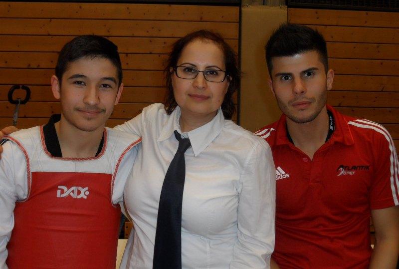 1. Bayernpokal 2014 in Roth - Murat Demir, Dilek Sam und Tayfun Yilmazer