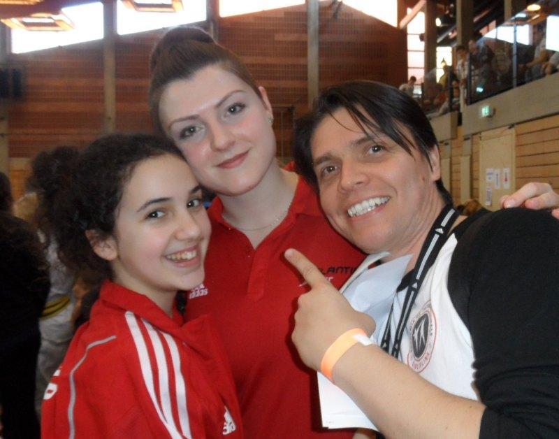 1. Bayernpokal 2014 in Roth - Chamutal Castano, Katharina Weiss und Carlos Granados