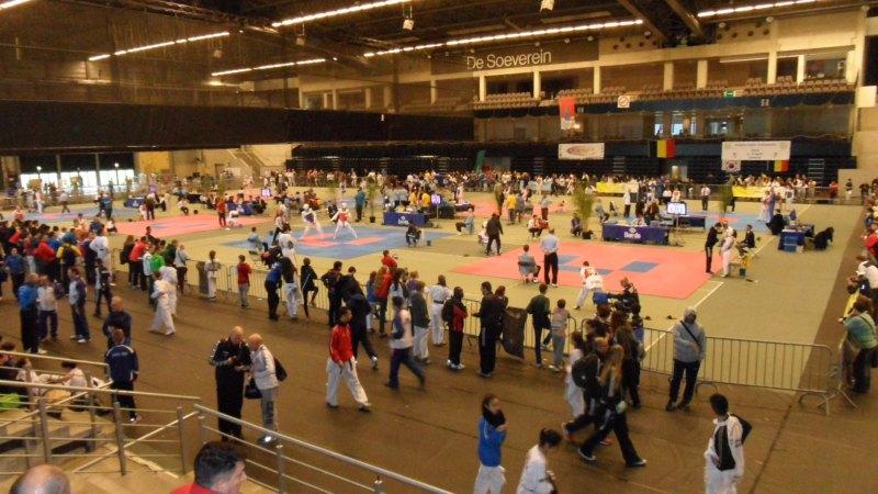 Belgian Open 2014 in Lommel - Der Innenraum der Wettkampfhalle