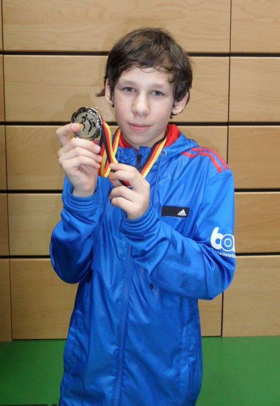 Creti Cup 2014 in Reutlingen - Benjamin Metzger mit seiner Silbermedaille