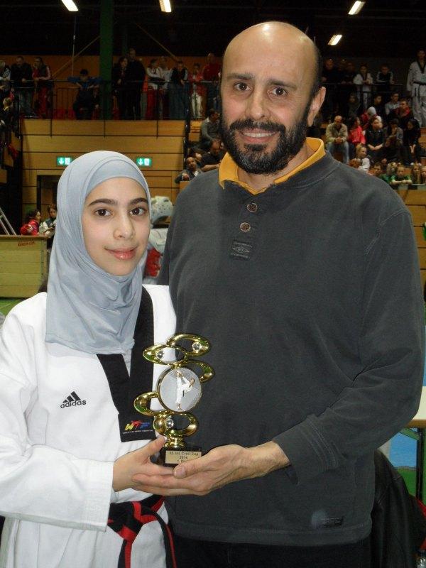 Creti Cup 2014 in Reutlingen - Rahaf Saqr und ihr Vater Jihad Saqr