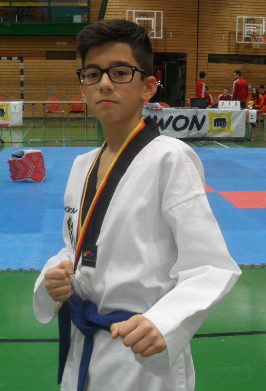 Creti Cup 2014 in Reutlingen - Kubilay Yilmaz mit seiner Silbermedaille