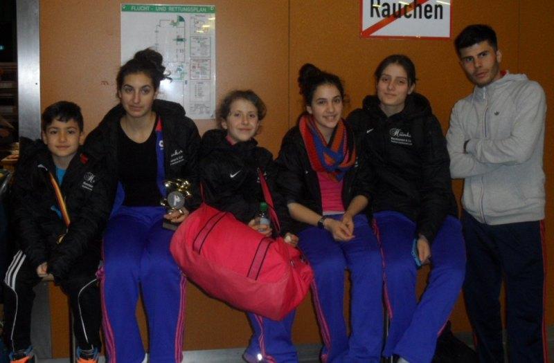 Creti Cup 2014 in Reutlingen - Ali Kartoglu, Arianna Danel, Samira Danel, Chamutal Castano, Burcin Kayhan und Tayfun Yilmazer