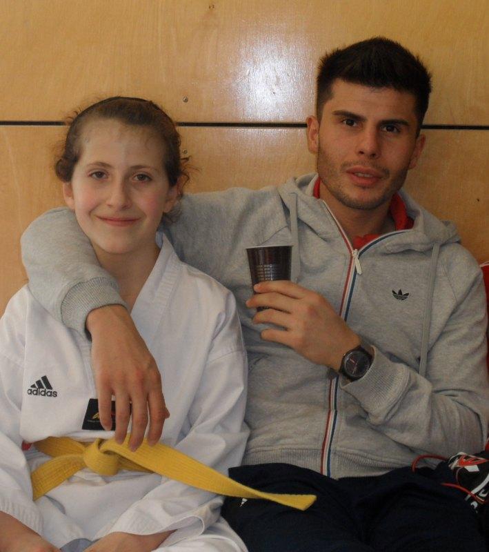 Creti Cup 2014 in Reutlingen - Samira Danel mit Coach Tayfun Yilmazer