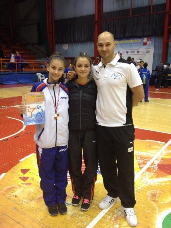 Croatia Open 2013 in Zagreb - Ela Aydin und Nicole Ohlmann mit Jugend-Bundestrainer Marco Scheiterbauer