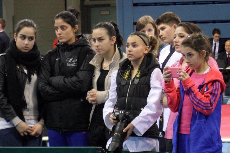 Deutsche Meisterschaft der Kadetten 2014 in Gummersbach - Burcin Kayhan, Sebil Kaya, Amina Felix und Melanie Felix