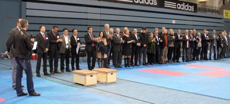 Deutsche Meisterschaft der Senioren 2014 in Gummersbach - Begrüßung der Ehrengäste