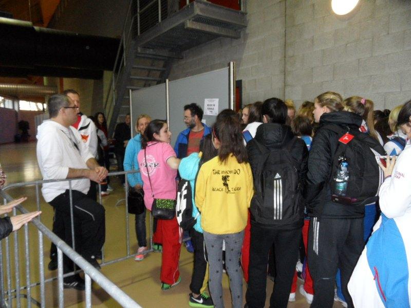 Dutch Open 2014 in Eindhoven - Warteschlange bei der Waage