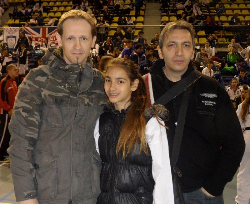 Dutch Open 2014 in Eindhoven - Tatiana Miccoli mit ihrem Trainer Shkelzen Demhasaj und ihrem Vater Moreno Miccoli