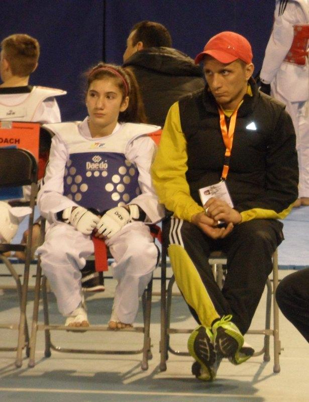 Dutch Open 2014 in Eindhoven - Aybike Türen mit ihrem Coach Ahmet Eski