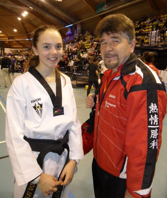 Dutch Open 2014 in Eindhoven - Isabel Beckstein mit ihrem Coach Horst Scholz