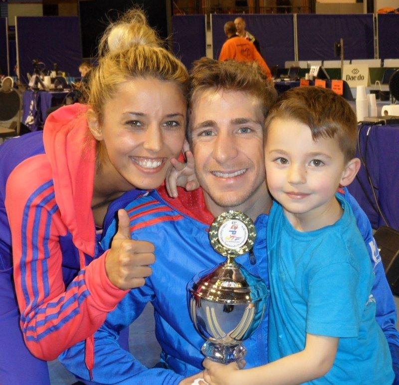 Dutch Open 2014 in Eindhoven - Sümeyye Manz, Daniel Manz und ihr Sohn Aurelio Kaan Manz
