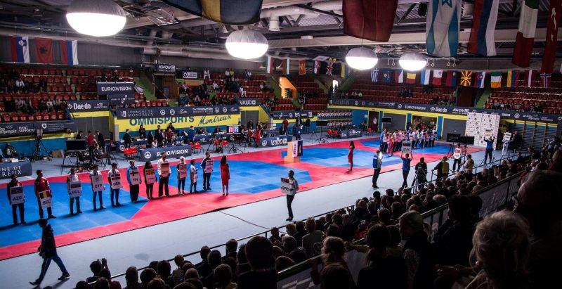 Europameisterschaft 2016 Montreux - Wettkampfhalle Innenraum