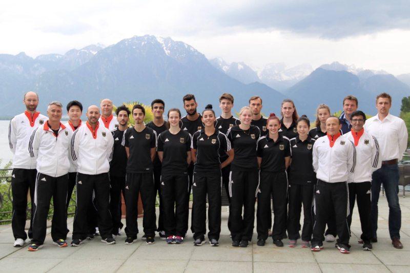 Europameisterschaft 2016 Montreux - DTU-Team