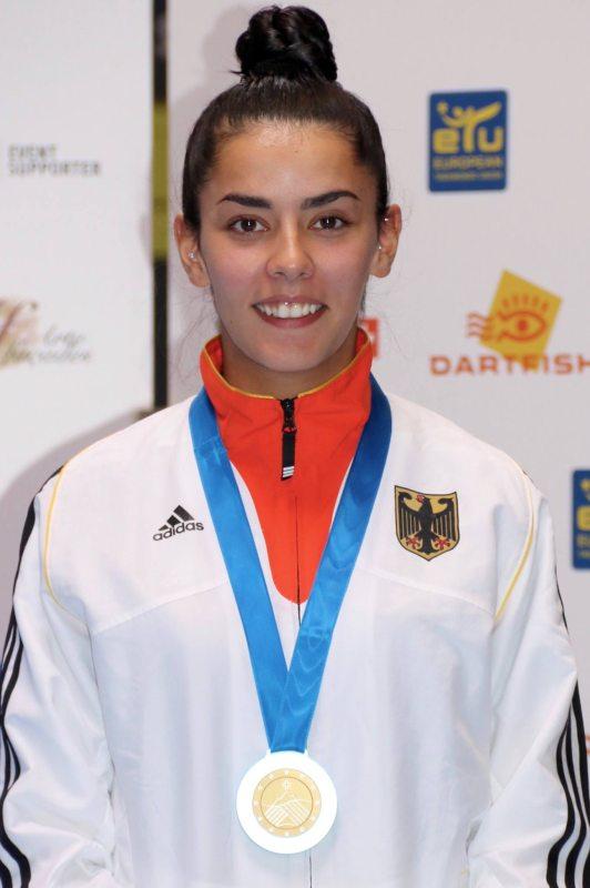 Europameisterschaft 2016 Montreux - Rabia Gülec mit ihrer Bronzemedaille