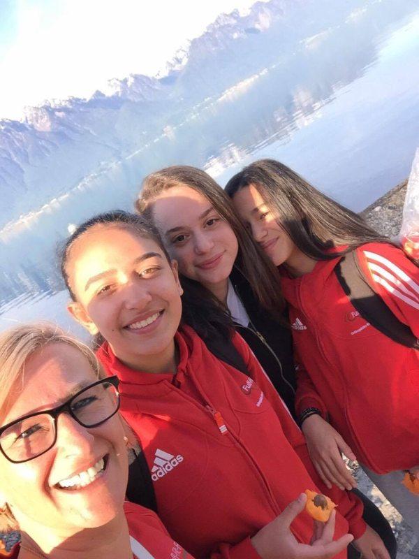 Europameisterschaft 2016 Montreux - TKD Özer Unterstützungsteam: Agnes Guerra, Selina Öztürk, Nigda Baser und Shayna Guerra