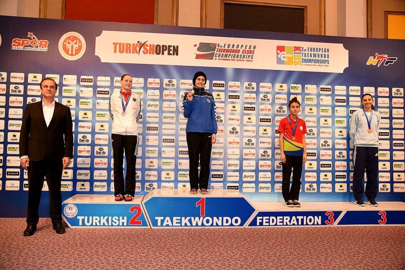 European Clubs Championships 2016 Belek - Anna-Lena Frömming bei der Siegerehrung