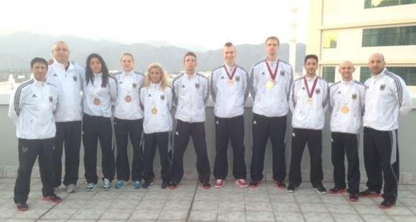 Fujairah Open 2014 in Fudschaira - Das DTU-Team mit den gewonnenen Medaillen