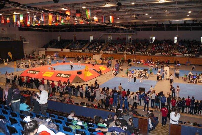 German Open 2014 in Hamburg - Innenraum der Wettkampfhalle