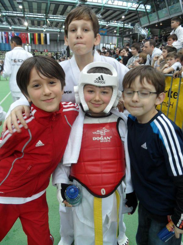 Internationales Kinderturnier Sindelfingen 2013 - Emre Tepe, Benjamin Metzger, Kaan Yaman und Martin Felix