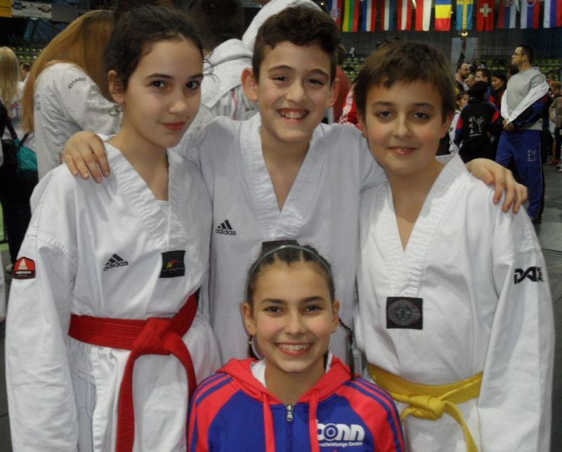 Internationales Kinderturnier Sindelfingen 2013 - Chamutal Castano, sebil Kaya, Jordan Caputo und Dolunay Idrizoglou