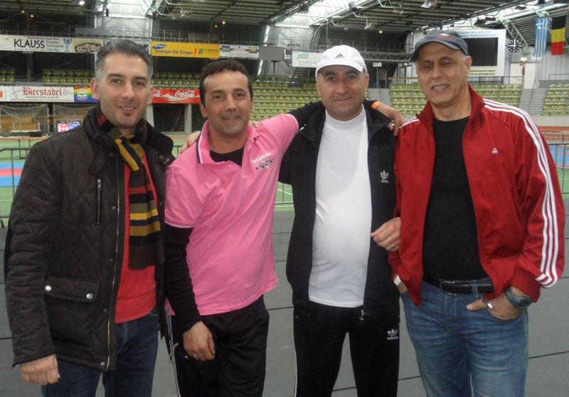 Internationales Kinderturnier Sindelfingen 2014 - Serdar Yilmaz, Bahri Gül, Mustafa Danel und Abbas Rezaie