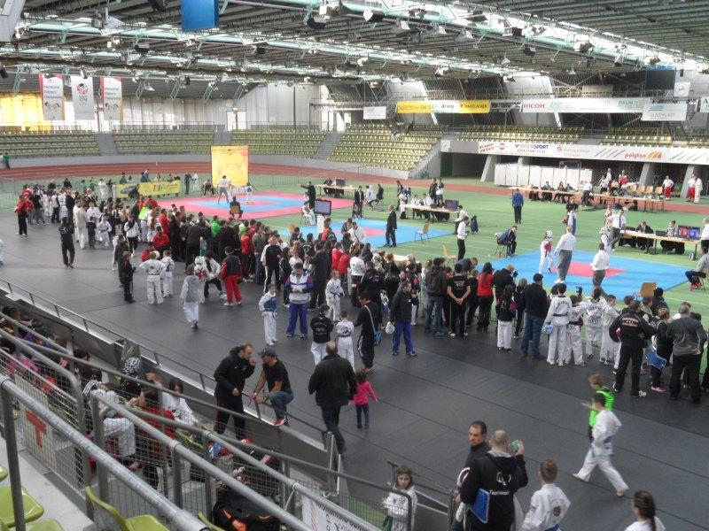 Internationales Kinderturnier Sindelfingen 2014 - Innenraum der Wettkampfhalle 2