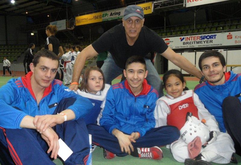 Internationales Kinderturnier Sindelfingen 2014 - Ramtin Rezaie, Roja Rezaie, Abbas Rezaie, Murat Demir, Leyla Gül und Ramin Rezaie
