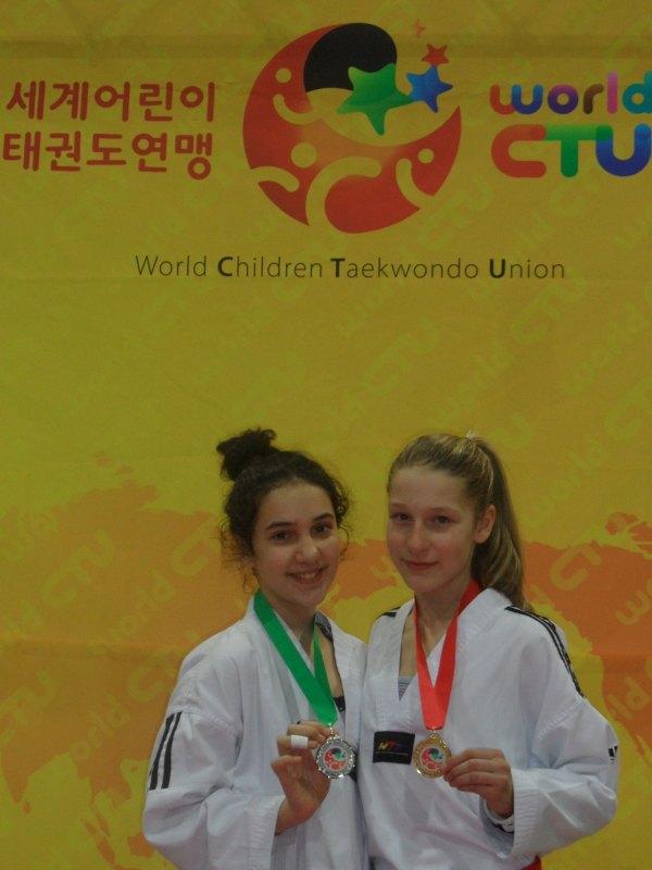 Internationales Kinderturnier Sindelfingen 2014 - Chamutal Castano und Marie Bosnjak