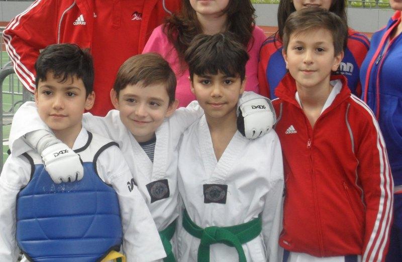 Internationales Kinderturnier Sindelfingen 2014 - Ali Kartoglu, Martin Felix, Adam Piri und Emre Tepe
