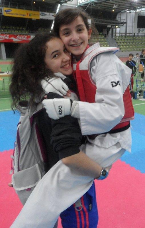 Internationales Kinderturnier Sindelfingen 2014 - Chamutal Castano mit Melanie Felix