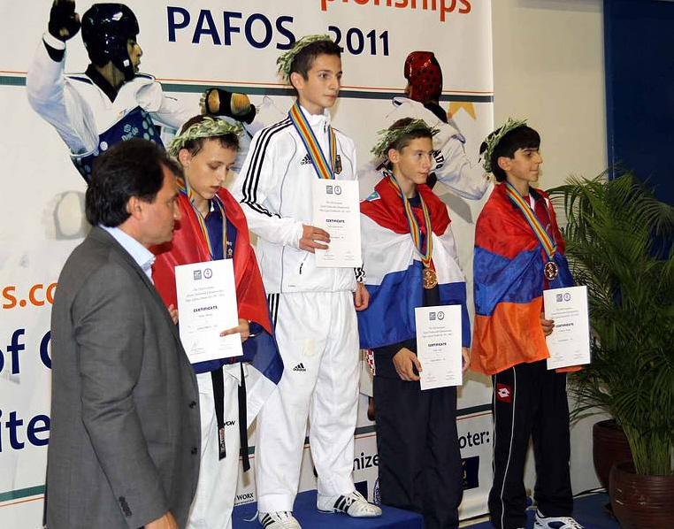Jugend-EM 2011 - Hasan bei der Siegerehrung