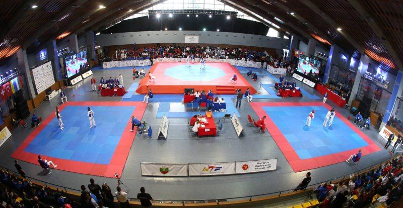 Junioren-U21-Europameisterschaft 2017 in Sofia - Wettkampfhalle Innenraum