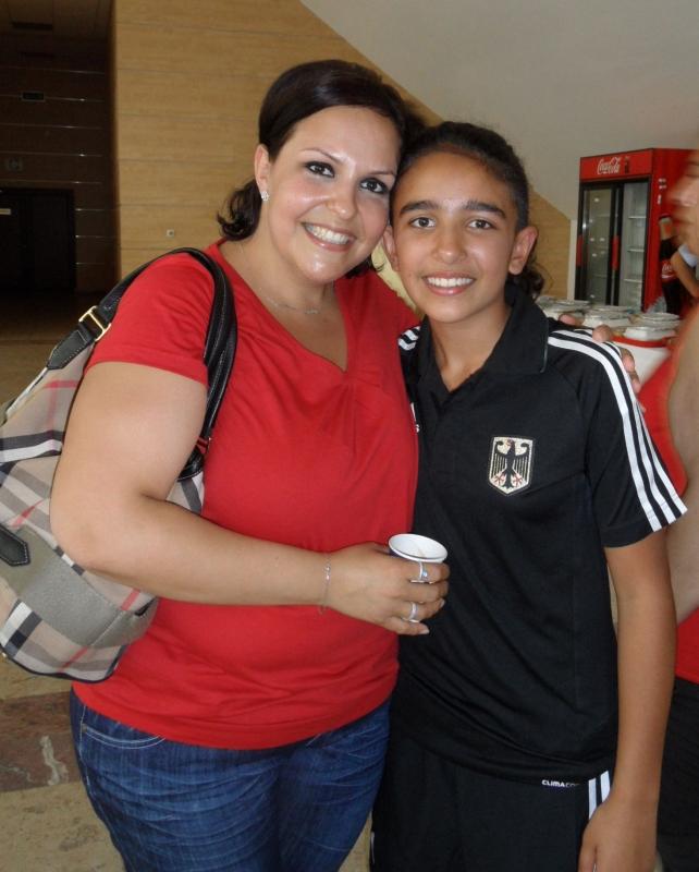 Kadetten-(U15)-Europameisterschaft 2013 in Bukarest - Selina Öztürk mit ihrer Mutter Nurgül
