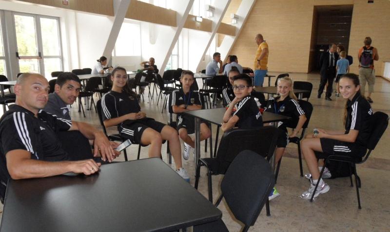 Kadetten-(U15)-Europameisterschaft 2013 in Bukarest - Ein Teil des DTU-Temas in der Pause