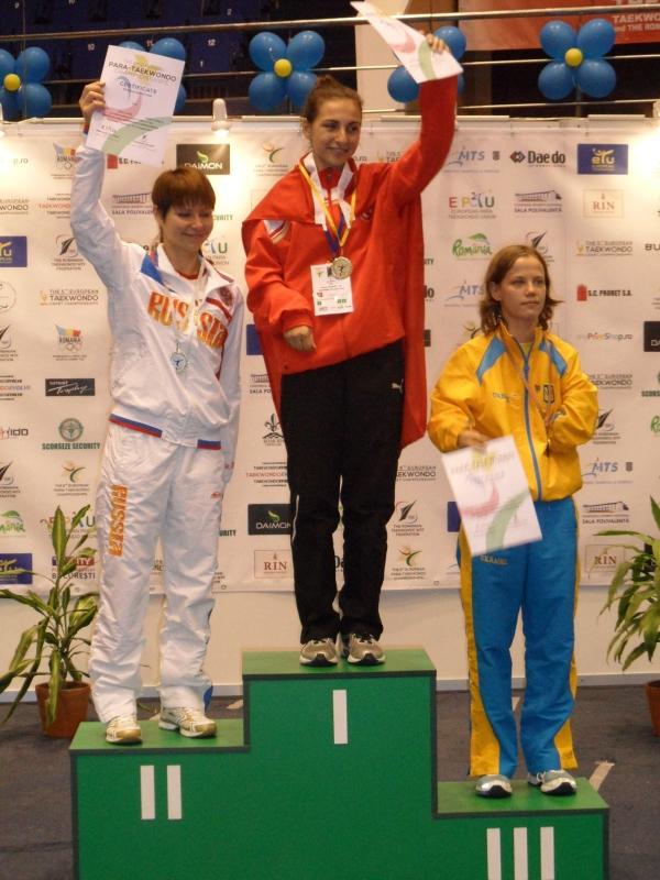 Kadetten-(U15)-Europameisterschaft 2013 in Bukarest - Viktoriia Marchuk bei der Siegerehrung