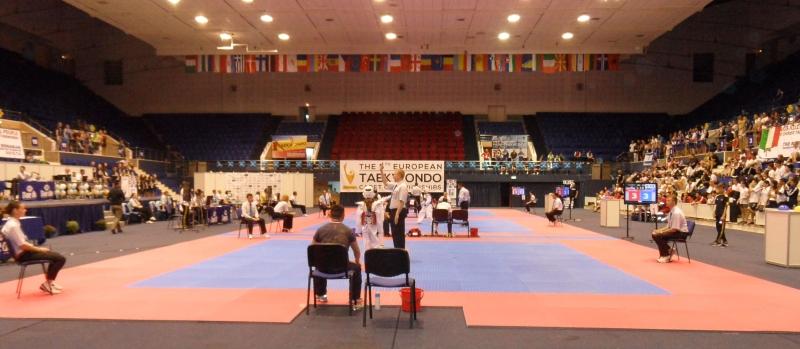 Kadetten-(U15)-Europameisterschaft 2013 in Bukarest - Halleninnenraum vor den Wettkampfflächen