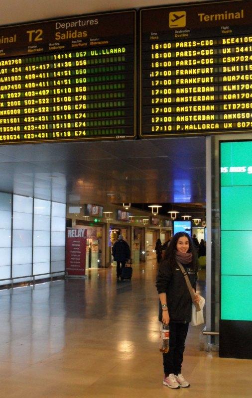 Chamutal Castaño am Flughafen Madrid