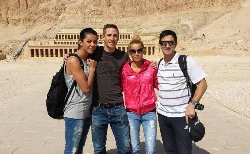 Luxor Open 2014 in Luxor - Rabia Gülec, Daniel Manz, Sümeyye Manz und Damen-Bundestrainer Carlos Esteves