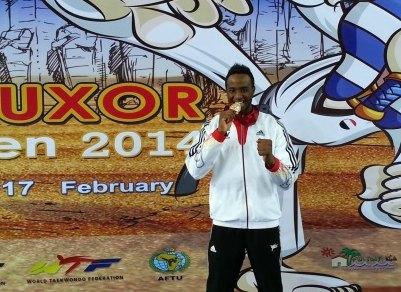 Luxor Open 2014 in Luxor - Yassine Trabelsi mit seiner Goldmedaille