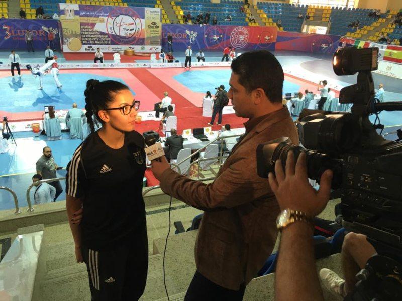 Luxor Open 2016 in Luxor - Rabia Gülec beim Fernseh-Interview